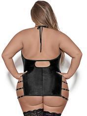Exposed Lust Portia Fetish Wet Look Dress , Black, hi-res