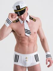 Lovehoney Fantasy Sexy Seaman Costume, White, hi-res