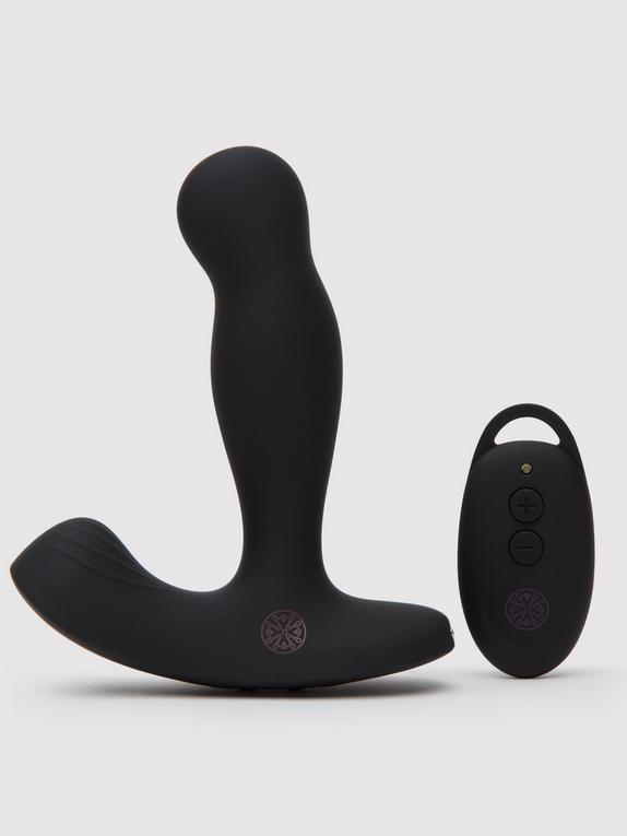 Mantric Rechargeable Remote Control Rotating Prostate Massager, Black, hi-res
