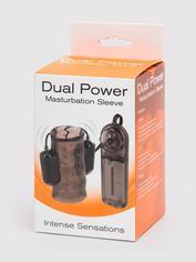 Dual Power Vibrating Masturbation Sleeve, Black, hi-res