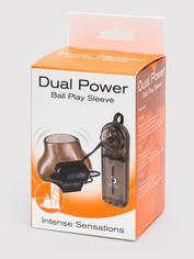 Dual Power Vibrating Testicle Stimulator, Black, hi-res