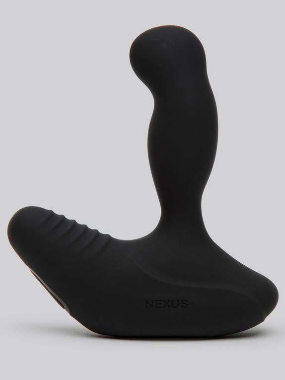 Nexus Revo Rechargeable Rotating Silicone Prostate Massager, Black, hi-res