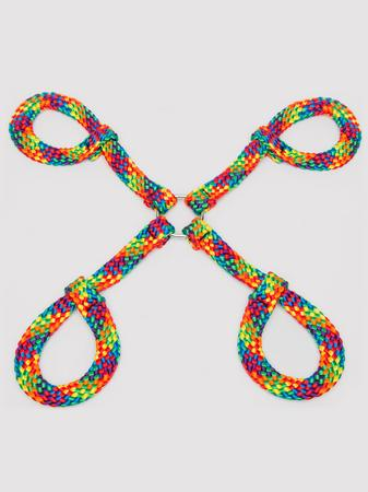 Bondage Boutique Rainbow Rope Hogtie