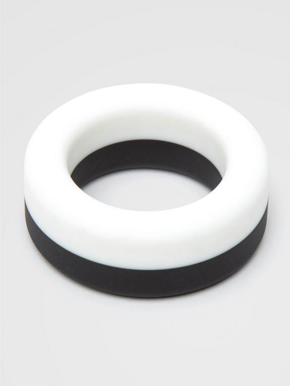 Lovehoney Thick Silicone Cock Ring, Black, hi-res