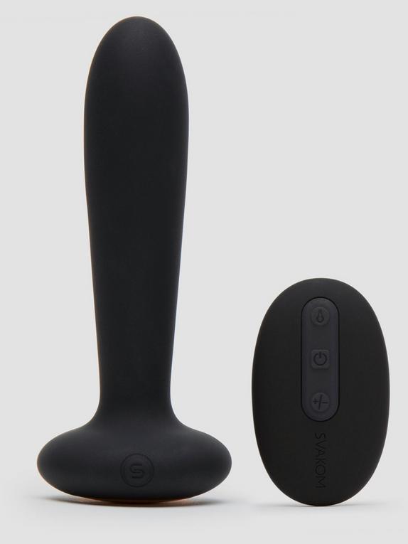 Svakom Primo Warming Remote Control Butt Plug, Black, hi-res