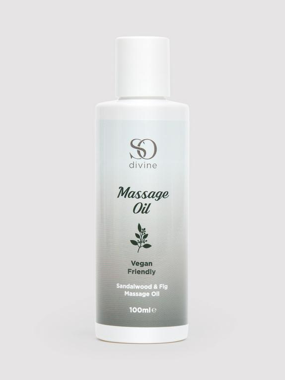 So Divine Sandalwood and Fig Massage Oil 100ml, , hi-res