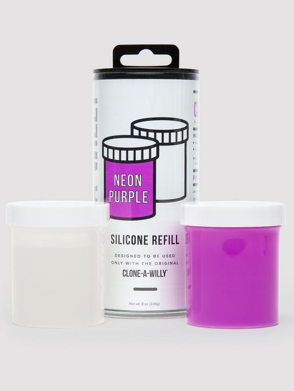 Clone-A-Willy Neon Purple Silicone Refill, , hi-res