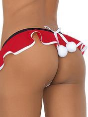 Escante Santa Pom-Pom G-String, Red, hi-res
