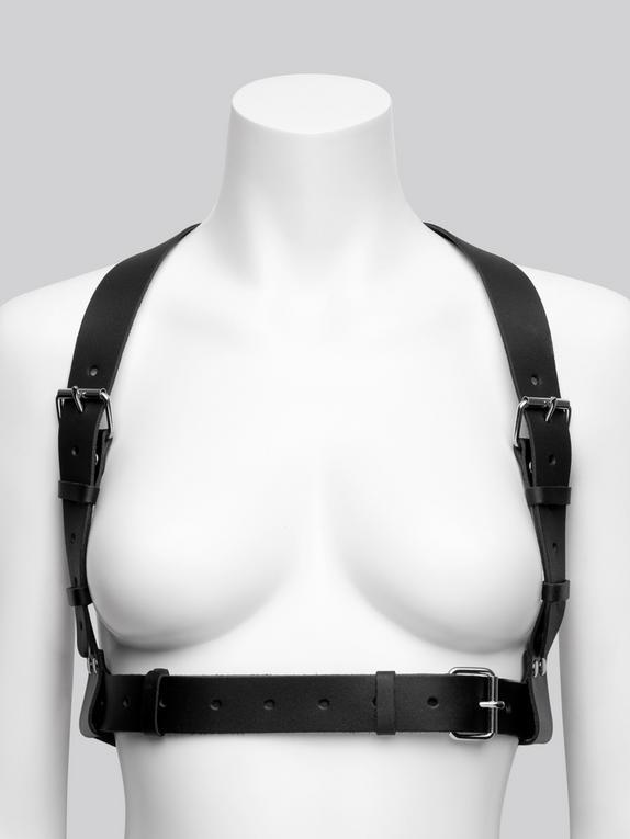 DOMINIX Deluxe Leather Racerback Harness, Black, hi-res