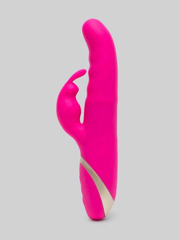 Swan Motion Rechargeable Luxury Thrusting Rabbit Vibrator, Pink, hi-res
