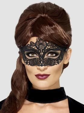 Fever schwarze Maske aus Spitze