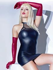Coquette Red Wet Look Full-Length Gloves, Red, hi-res