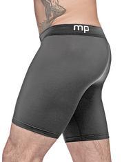 Male Power Black Stretch Long Boxer Shorts, Black, hi-res