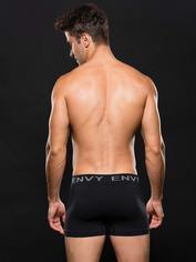 Envy Black Seamless Boxer Shorts, Black, hi-res
