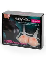 Cottelli Silicone Strap-On Breasts, Flesh Pink, hi-res