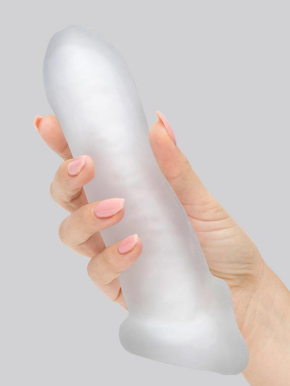 Perfect Fit Fat Boy Ultra Fat 7 Inch Penis Sleeve with Ball Loop, Clear, hi-res