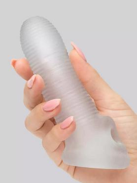 Perfect Fit Fat Boy Micro Ribbed 5.5 Inch Penis Sleeve with Ball Loop