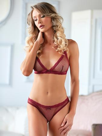 Allure Burgundy Lace Bra Set