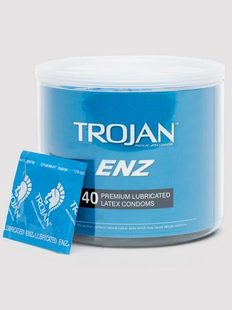 Trojan ENZ Premium Lubricated Condoms (40 Count)