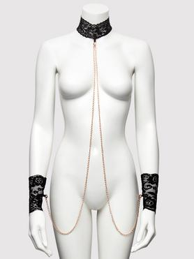 Bondage Boutique Black Lace Collar and Cuffs