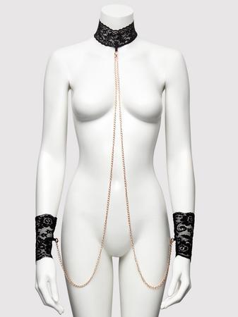 Bondage Boutique Black Lace Collar and Cuffs