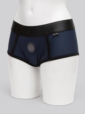Sportsheets Blue Active Fit Strap-On Harness Boxer Briefs