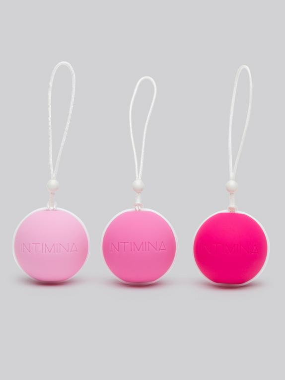 Intimina Laselle Weighted Jiggle Ball Set (3 Piece), Pink, hi-res