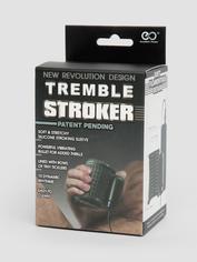 Tremble Wired Vibrating Male Masturbator, Black, hi-res