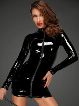 Noir Handmade Black Ultra-Shine PVC Mini Dress