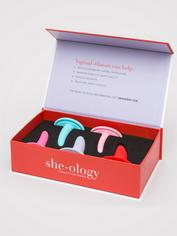 she-ology Wearable Silicone Vaginal Dilator Set (5 Piece), Pink, hi-res