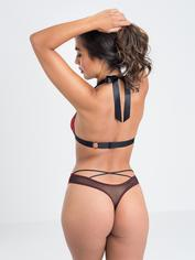 Lovehoney Wild Spirit Red Lace Cut-Out Strappy Body, Red, hi-res