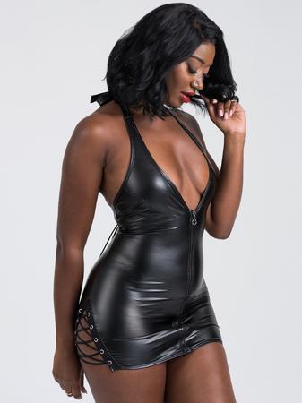 Lovehoney Fierce Leather-Look Lace-Up Dress