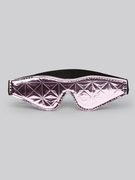 Bondage Boutique Metallic Pink Blindfold , Pink, hi-res