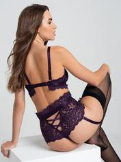 Lovehoney Shadow Lily Purple Lace Bra Set, Purple, hi-res