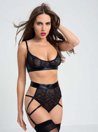 Lovehoney Fierce Serpentine Snakeskin Lace Bra Set
