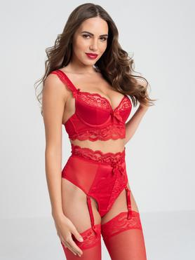 Ensemble string soutien-gorge push up Treasure Me rouge, Lovehoney