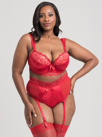 Lovehoney Plus Size Treasure Me Red Push-Up Bra Set