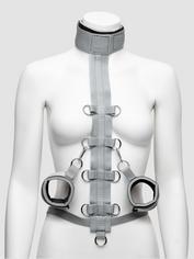 Silver Seduction Body Harness Restraint, Grey, hi-res