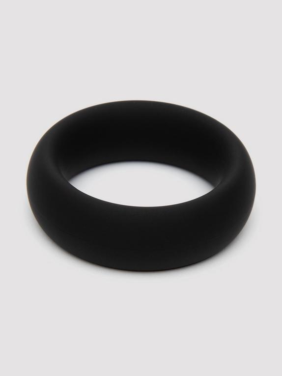 Lovehoney Power Player Silicone Cock Ring, Black, hi-res