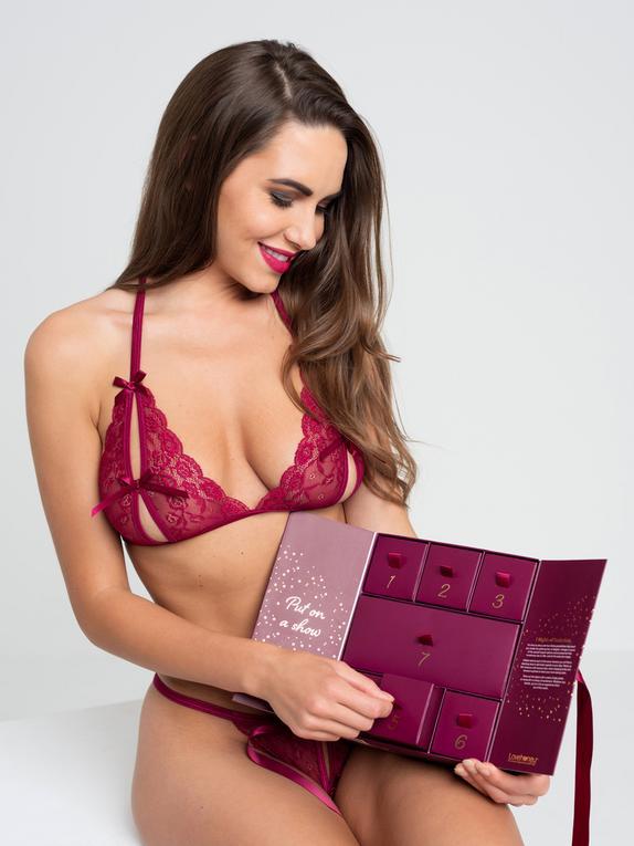 Calendario de Lencería Talla Única 7 Nights of Seduction de Lovehoney, Rojo, hi-res