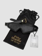 Fifty Shades of Grey Bound to You Faux Leather Blindfold, Black, hi-res