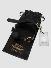 Fifty Shades of Grey Bound to You Faux Leather Ball Gag, Black, hi-res
