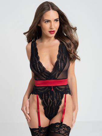 Lovehoney Empress Red Satin and Lace Teddy