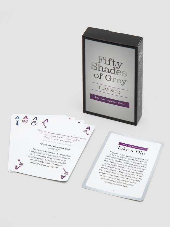 Fifty Shades of Grey Play Nice Talk Dirty Inspiration Cards, , hi-res
