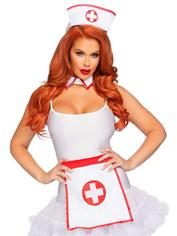Leg Avenue Sexy Nurse Accessories Set , White, hi-res