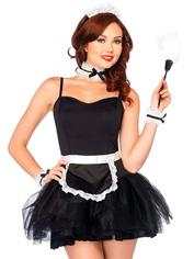 Leg Avenue French Maid Accessories Set , Black, hi-res