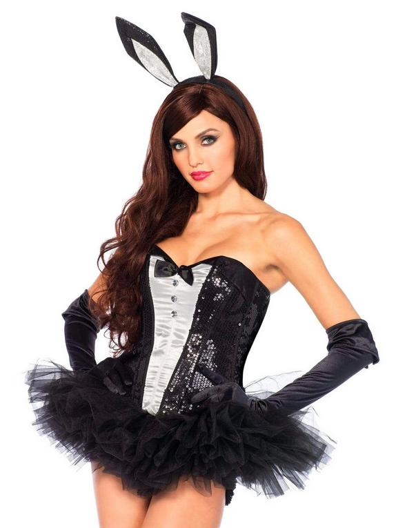 Leg Avenue Sexy Bunny Accessories Set , Black, hi-res