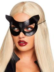 Leg Avenue Vinyl Cat Mask , Black, hi-res