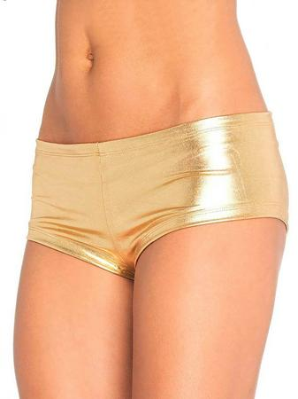 Leg Avenue Gold Stretch Hot Pants
