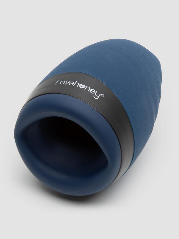 Lovehoney Hot Shot Rechargeable Warming Male Masturbator, Blue, hi-res